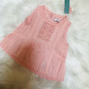 NWT pink lace Bailey blossom top